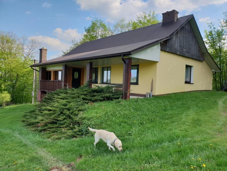 Domek na wzgórzu w Beskidzie Wyspowym, Krosna.