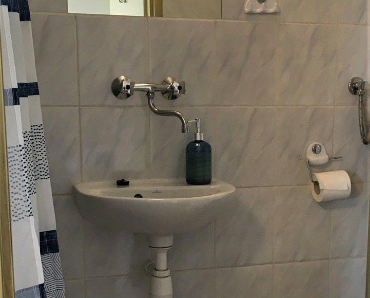 Łazienka w pokoju samodzielnym niebieskim
