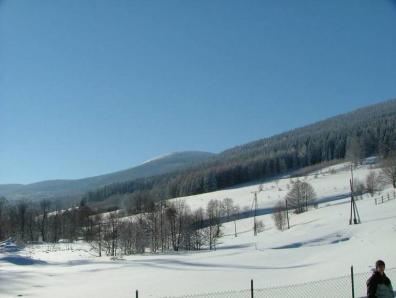 Śnieżnik widok z Monte Neve
