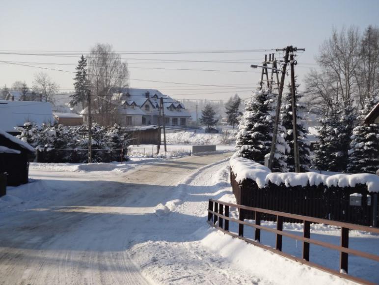 Łopuszna zimą