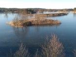 Widok z naszej wieży nad jeziorem w Campingu