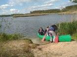 przystań kanu na campingu