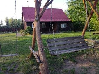 Drewniany Domek z wielkim prywatnym ogrodem