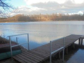 Jezioro 100m z kąpieliskiem