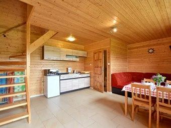 Biały Łabędź LUX domki 3 pok 55m na Dużym terenIe